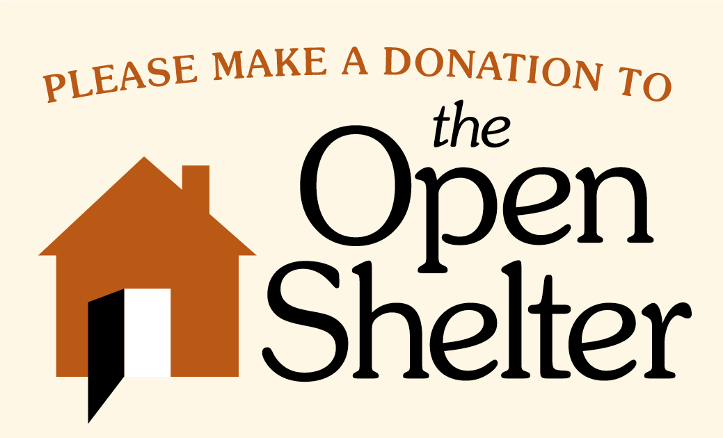 Please make a donation to the Open Shelter